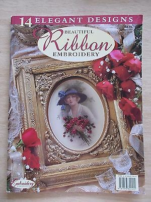 Beautiful Ribbon Embroidery~1999~14 Patterns~Roses~Topiary~Purse~Hydrangeas...