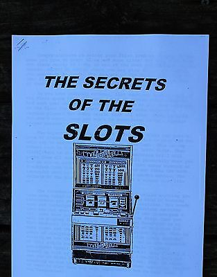 Vintage The Secrets Of The Slots - Casino Booklet