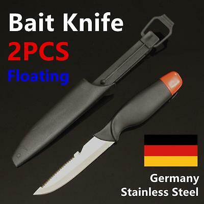 "2X 5"" Fish Bait Knife GERMAN STAINLESS STEEL Fishing Diving Hunting Fillet"