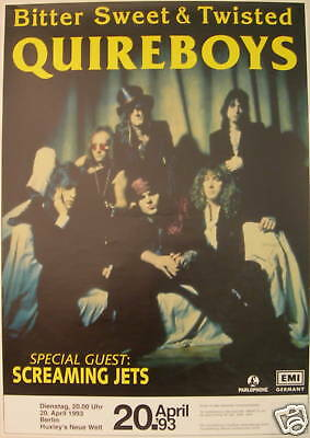 Quireboys Concert Tour Poster 1993 Bitter Sweet & Twisted