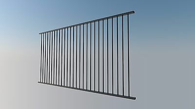 Certified Aluminium Pool Fence Panel 2400x1200 Flat Top  BLACK / PRIMROSE
