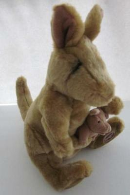 Vintage Applause Lou Rankin & Friends Plush Mama Baby Kangaroo VCG Free Shipping