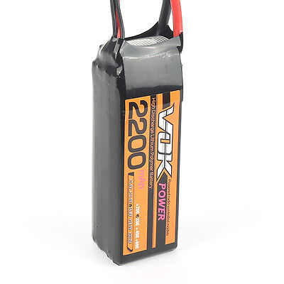 XT60 Discharger Plug VOK 14.8V 2200mAh 35C 4S Lipo Battery for RC Quad Plane neo