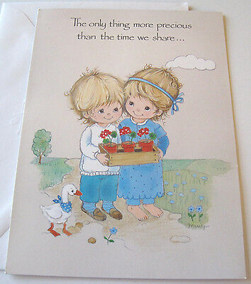 Unused Vtg Greeting Card Current Inc Heavenly Dreamers Cute Friends with Faith