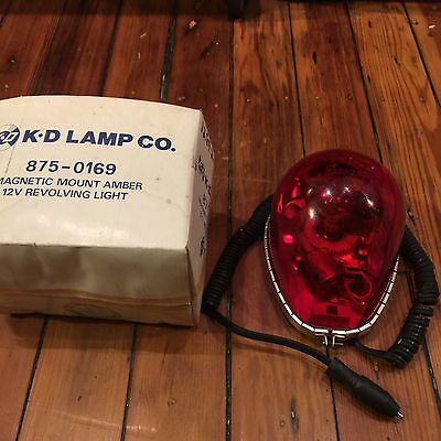 Vintage New Old Stock KD 12v Revolving Tear  Drop Light-Fire,Rescue,Police