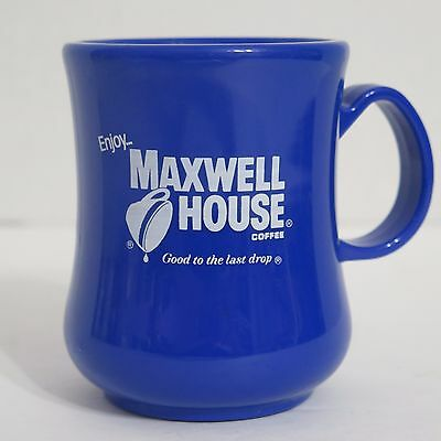Vintage Blue Maxwell House Coffee Plastic Mug Good To The Last Drop Rare
