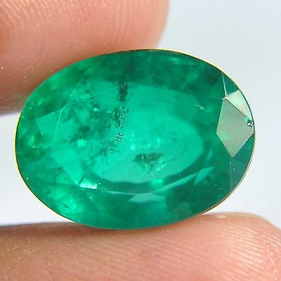 F13@ 8.00 Cts royal green emerald doublets quartz oval cut gems to jewelry