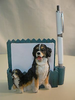 E&S Imports BERNESE MTN DOG MAGNETIC NOTE PAD & Pen NEW #46480-52 or DESKTOP