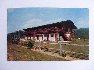 1957 Berkshire Chalet Restaurant & Motel Great Barrington Ma Postcard y7400