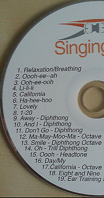 Learn How To Sing Cd Vocal Coach Voice Warm Up Speech Level Singing Pop/rock/sls
