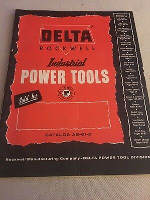 Authentic Original DELTA ROCKWELL Woodworking Power Tools Machinery Catalog 1961
