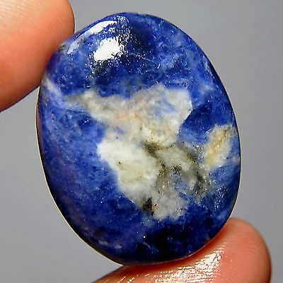 31.45 Cts Natural Romania Blue Sodalite Oval Cabochon Loose Gemstone