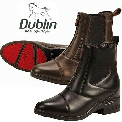 NEW Dublin Intensity Front-Zip Paddock Boots Ladies- Black 6, 6.5 - Brown 6, 7.5