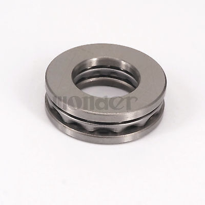 (1)51206 30x52x16mm Axial Ball Thrust Bearing Set(2 Steel Races + 1 Cage)ABEC-1