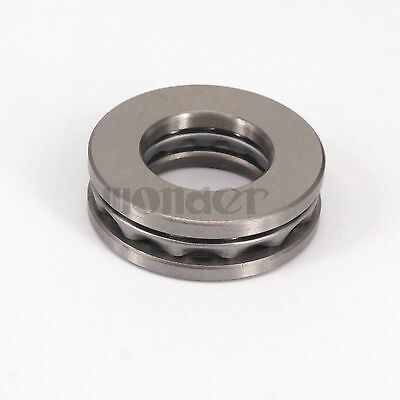 (1)51211 55x90x25mm Axial Ball Thrust Bearing Set(2 Steel Races + 1 Cage)ABEC-1