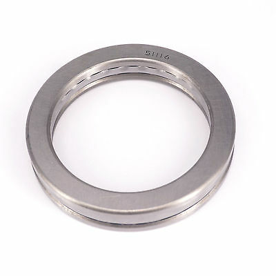 (1)51116 80 x 105 x 19mm Axial Ball Thrust Bearing (2 Steel Races +1 Cage)ABEC-1