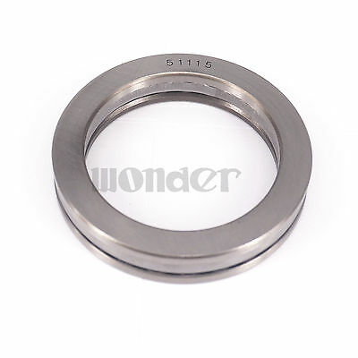 (1)51115 75x100x19mm Axial Ball Thrust Bearing (2 Steel Races + 1 Cage)ABEC-1