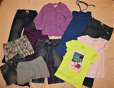 GAP KIDS PLACE OLD NAVY Jeans Shorts T-Shirts Dress Mix & Match Lot Girls 6 6X 7