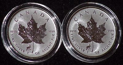 *2 COIN LOT* 2015 1oz Reverse Proof Sheep Privy Silver Maple Leaf OFF QUALITY