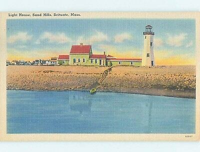 Linen POSTCARD FROM Scituate Massachusetts MA HM9831