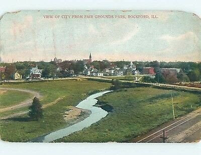 Chipped Divided-Back POSTCARD FROM Rockford Illinois IL HM7407
