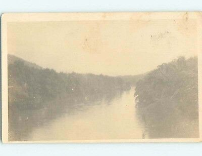Pre-1930 rppc LARGEST RIVER Country Of Ceylon HM3235
