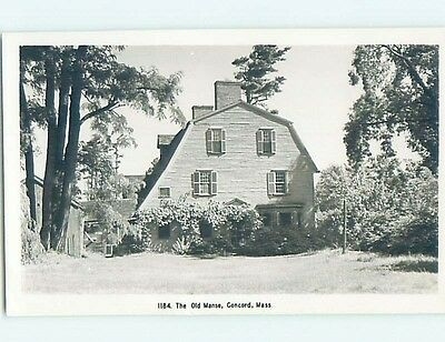 Old rppc THE OLD MANSE Concord Massachusetts MA HM3006