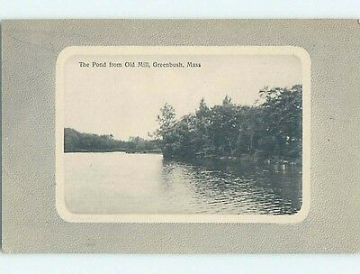 Divided-Back POSTCARD FROM Greenbush Massachusetts MA HM7007