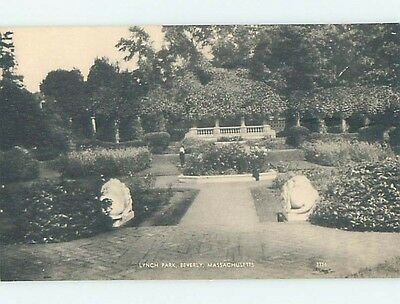Unused 1920's PARK SCENE Beverly Massachusetts MA hk9069