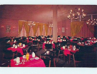 Unused Pre-1980 RESTAURANT SCENE Waltham Massachusetts MA hk4603