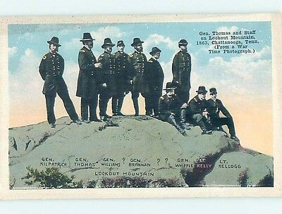 W-Border Civil War UNION GENERALS ON LOOKOUT MOUNTAIN Chattanooga TN HM8703
