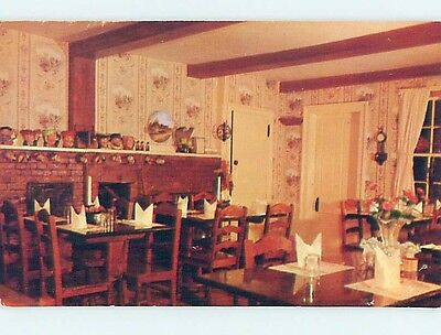 Unused Pre-1980 RESTAURANT SCENE Plymouth Massachusetts MA hk4365
