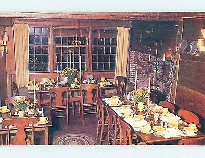 Unused Pre-1980 RESTAURANT SCENE Nantucket Massachusetts MA hk4668