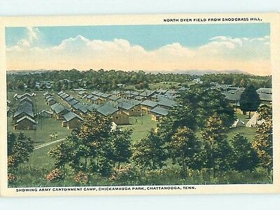 Unused W-Border Military USA ARMY CAMP Chattanooga Tennessee TN hk8718