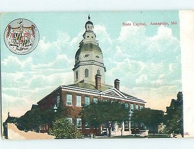 Damaged Divided-Back POSTCARD FROM Annapolis Maryland MD HM6037