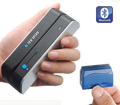 Bluetooth Wireless Magnetic Credit Card Reader Writer Encoder MSRX6BT+DX5 605