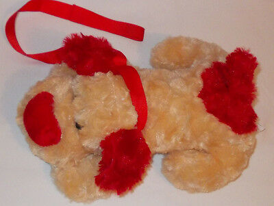 "New Cuddly Dog on lead  plush soft  toy 11"" long"