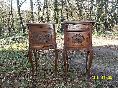 2 CHEVETS ANCIENS NOYER style LOUIS XV rocaille