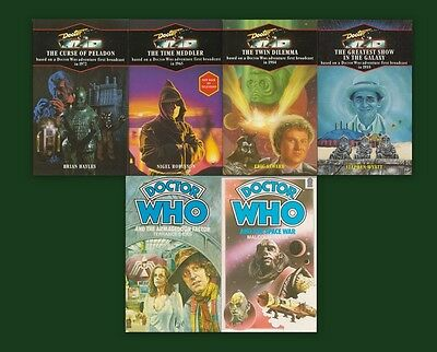BARGAIN!£8 for 6 NEW & MINT Target Doctor Who books. 4 blue spines! Lot, bundle.