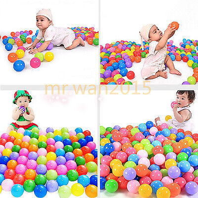 50/100/200/500X Secure Baby Kid Pit Toy Swim Fun Soft Plastic Ocean Ball gift SP