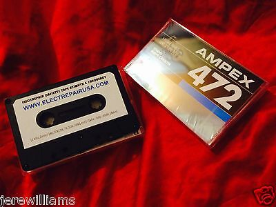 Test Alignment Cassette Tape Azimuth Frequency Speed Ampex Studio High Quality