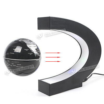 GEC Floating Globe Rotating Magnetic Suspending World Map Earth Geography