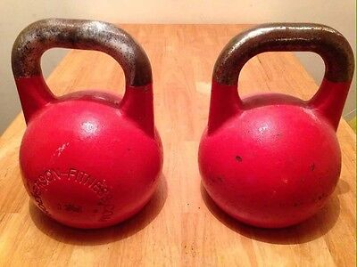 Pair of 32kg Wolverson Competition kettlebells