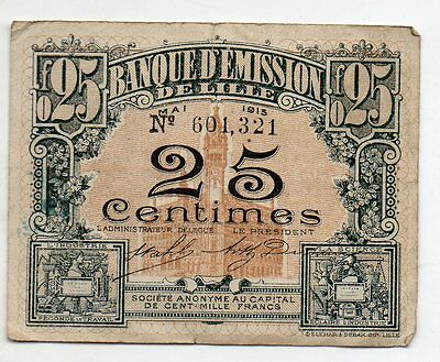 25 cts Lille 1915 (vf)