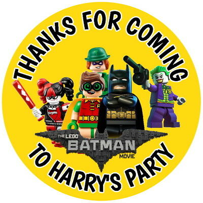Personalised Lego Batman Movie Gloss Quality Party Bag,sweet Cone Stickers