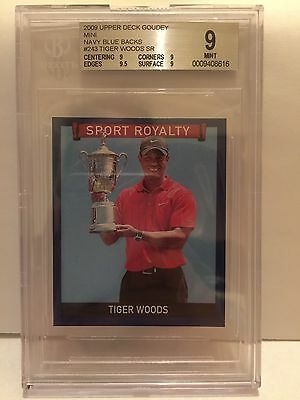 2009 Tiger Woods Goudey Mini Navy Blue Back Rare Only One Graded Higher