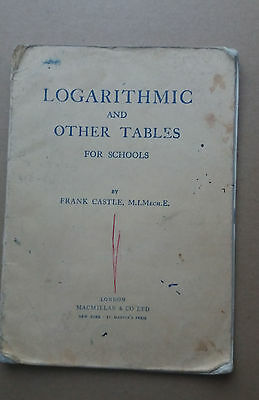 Joseph Leckie School-Walsall. Logarithmic & Other Tables Vintage 1963