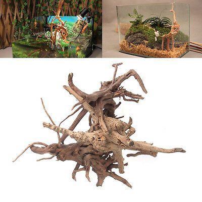 Aquarium Bois Tronc Bois flotté Poisson d'arbre Réservoir Stump Ornament Decor