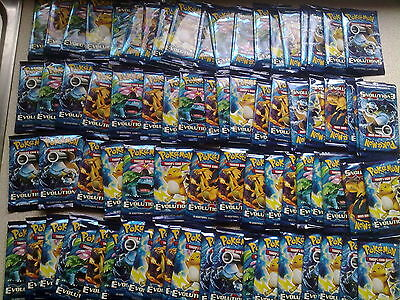 Pokemon cards card evolutions  70 brand new packets job lot bundle collection