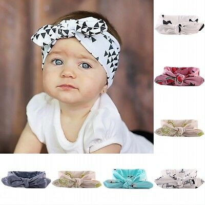 New Kids Infant Toddler Baby Girl Flower Headband Hair Bow Band Hair Accessories